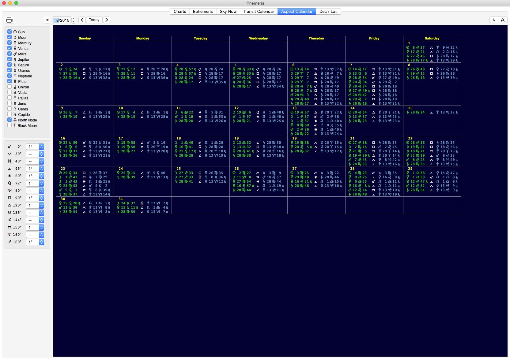 Iphemeris astrology software for mac osx astrological calendar